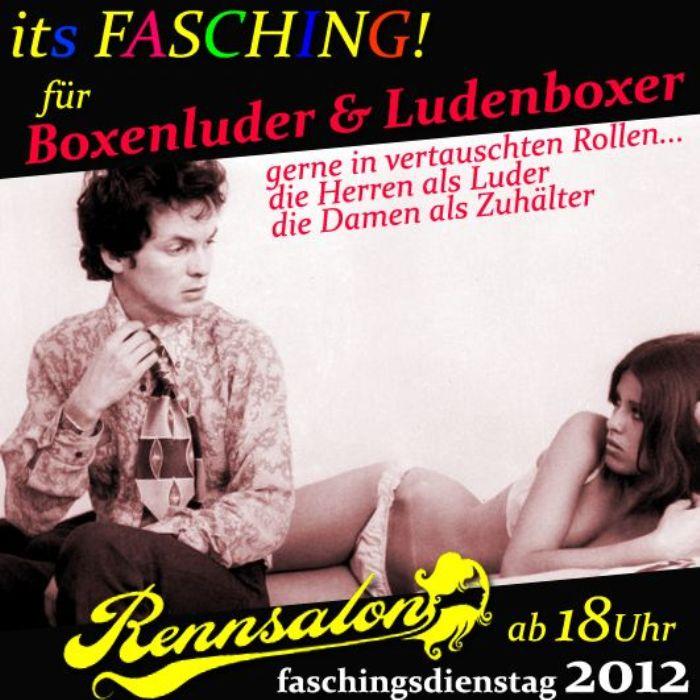 Faschingsdienstag 2012 im Rennsalon: Boxenluder und Ludenboxer