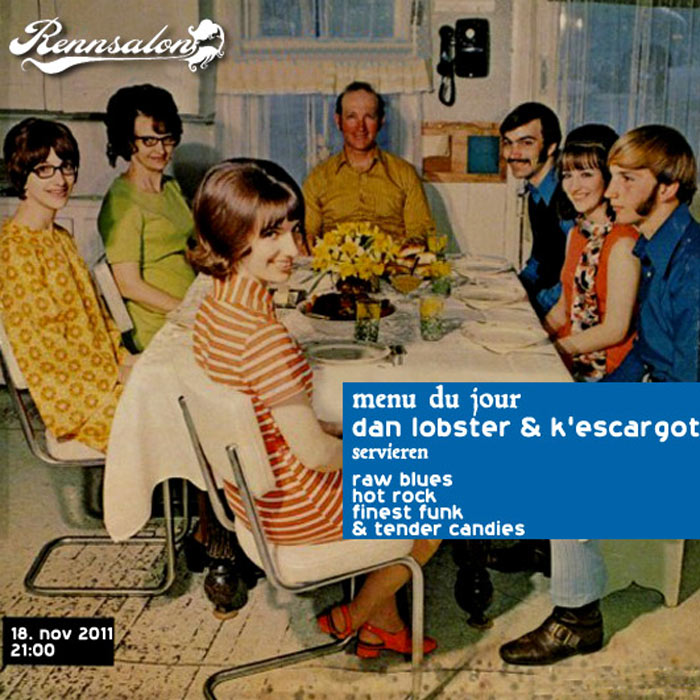 Dan Lobster & K´Escargot am 18.11.2011 im Rennsalon