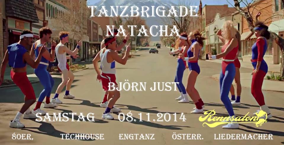 Tanzbrigade Natacha Björn Just am 08.11.2014 im Rennsalon zum Vögeln