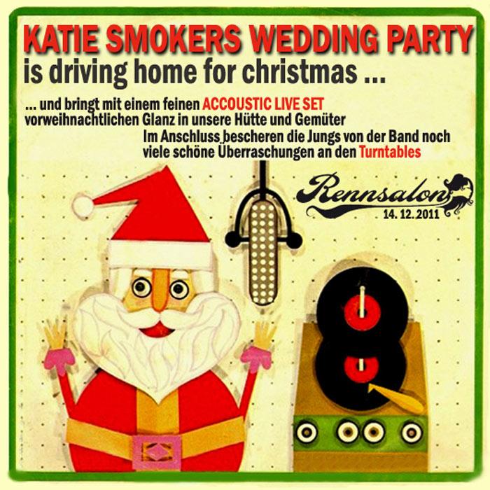 Katie Smokers Wedding Party am 14.12.2011 im Rennsalon