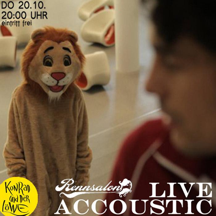 Konrad und der Löwe - Live Accoustic am 20.10.2011 im Rennsalon