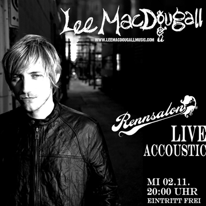 Lee MacDougall am 02.11.2011 live im Rennsalon